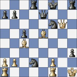 Černý si bezelstně vzal Dxe5. Není třeba dodávat, co zahrál bílý...