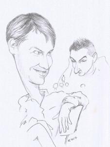 """Vojta Zwardoň se, jako vždy, snažil """"vyčenichat"""" v pozici nějakou šanci na výhru, ale jeho snaze se tentokrát mohl Alexey Kislinsky jen smát..."""