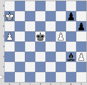 Pochoduji přes b7-c6-e4-f3-g2 až na h1 :-D