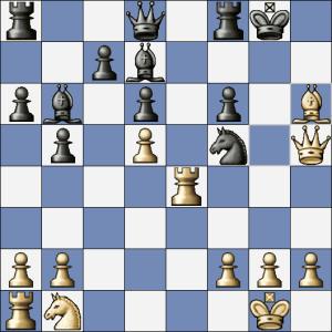 Po Vf7 se bílý může vzdát, ale po Jg7, což bylo v partii, skončí partie věčným šachem