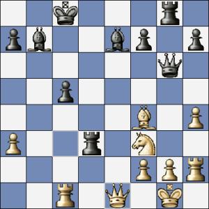 Časová tíseň a černý místo 25. ... De6! zahrál chybně 25. ... Vxf3?